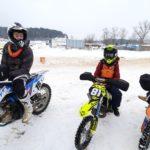 Кроссовая трасса — подготовка зимой