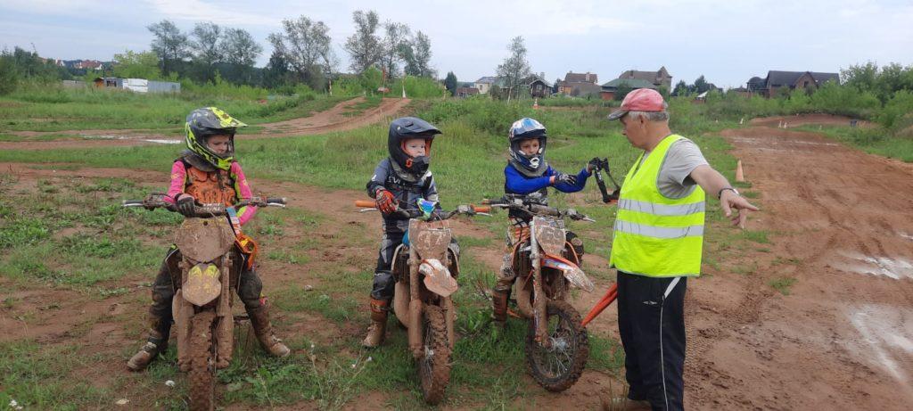 Дети и мотокросс